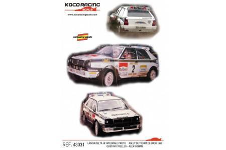 LANCIA DELTA HF Integrale Proto - nº2 Rally de Tierra de Lugo 1992 - Gustavo Trelles / Alex Romani