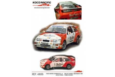 FORD SIERRA COSWORTH - nº1 Gr. A Rallye Ciudad Santander 1989 - Jesús Puras / Tomas Aguado