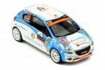 PEUGEOT 208 R2 WRC Rally Monte Carlo 2018 A. Molle / R. Herman - Ixo Scale 1:43 (RAM560)