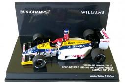 WILLIAMS FW11 Honda Ganador GP Hockenheim 1986 N. Piquet con K. Rosberg - Minichamps Escala 1:43 (410860106)