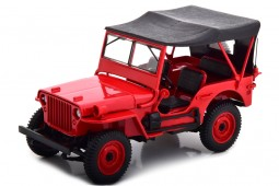 JEEP Willis 1942 Red - Norev Scale 1:18 (189014)