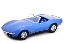 CHEVROLET Corvette Convertible 1969 Blue Metallic - Norev Scale 1:18 (189035)