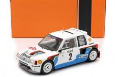 PEUGEOT 205 T16 Rally Monte Carlo 1985 A. Vatanen / T. Harryman - Ixo Escala 1:18 (18RMC020A)