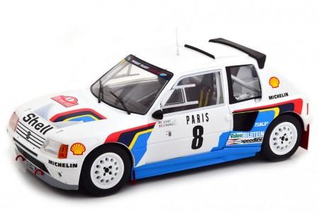 PEUGEOT 205 T16 Rally Monte Carlo 1985 B. Saby / J.F. Fauchille  - Ixo Escala 1:18 (18RMC022C)