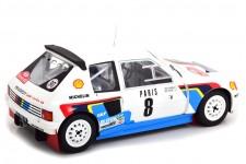 PEUGEOT 205 T16 Rally Monte Carlo 1985 B. Saby / J.F. Fauchille  - Ixo Escala 1:18 (18RMC022)