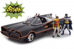 "BATMOBILE Serie TV ""Batman (1966)"" Figuras de Batman y Robin - Iluminacion - Jada Escala 1:18 (98265)"