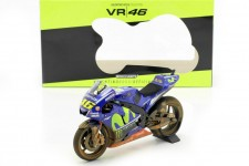 YAMAHA YZR-M1 Dirty Version MotoGP GP Malaysia 2017 V. Rossi - Minichamps Scale 1:12 (122173346)