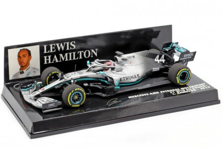 MERCEDES-AMG F1 W10 F1 World Champion 2019 Lewis Hamilton - Minichamps Scale 1:43 (410190044)