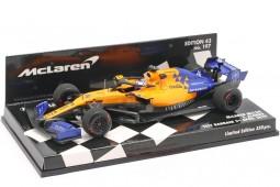 McLaren MCL34 Test Formula 1 Bahrain 2019 Fernando Alonso - Minichamps Escala 1:43 (537194314)