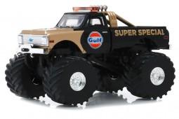CHEVROLET K-10 Gulf Super Special Monster Truck 1971 Black / Gold - Greenlight Escala 1:43 (88013)