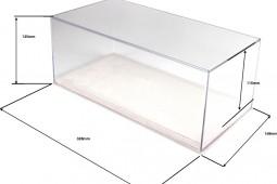 BBR SHOWCASE  Alcantara White - Scale 1:18 - 32,80 x 16,0 x 13,50 cm (VET1804E1)