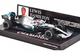 MERCEDES W10 Campeon del Mundo F1 GP USA 2019 Lewis Hamilton - Minichamps Escala 1:43 (417191844)