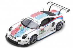 PORSCHE 911 RSR 3rd LMGTE Pro 24h Le Mans 2019 Pilet / Bamber / Tandy - Spark Escala 1:43 (s7938)