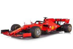 FERRARI SF90 GP 1000th F1 China 2019 S. Vettel - Incluye Vitrina - Looksmart Escala 1:18 (LS18F1019)