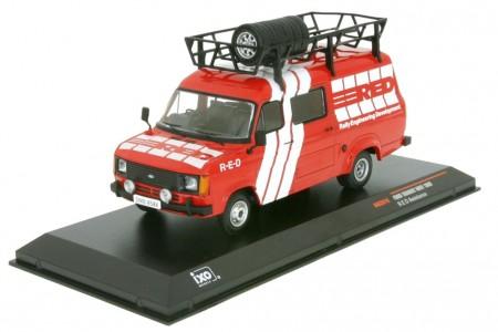 FORD Transit MK 2 Service Transporter RED 1985 - Ixo Models Scale 1:43 (RAC281X)
