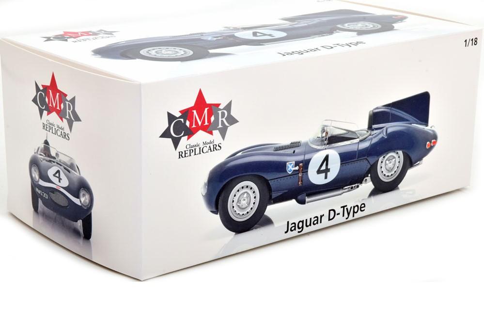 Jaguar D Type Sanderson-Flockhart Ganador Le Mans 1956 1:18 CMR142
