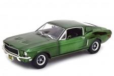 FORD Mustang Bullitt 1968 Green Chrome Steve McQueen - Greenlight Escala 1:18 (12823)