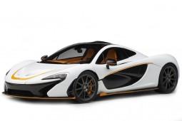McLaren P1 2013 Blanco Metalico / Naranja - AutoArt Escala 1:18 (76064)