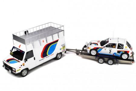 Set Ganador Rally Monte Carlo 1985 Peugeot Talbot Sport A. Vatanen - Otto Escala 1:18 (OT328)