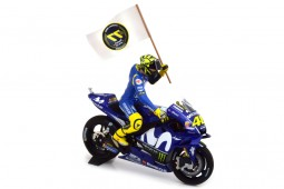 YAMAHA YZR-M1 MotoGP Catalunya 2018 Includes Figure V. Rossi - Minichamps Scale 1:12 (122183246)