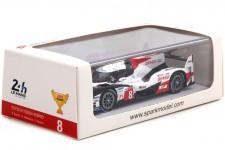 TOYOTA TS050 Hybrid Ganador 24h Le Mans 2018 S. Buemi / K. Nakajima / F. Alonso - Spark Escala 1:43 (43LM18)