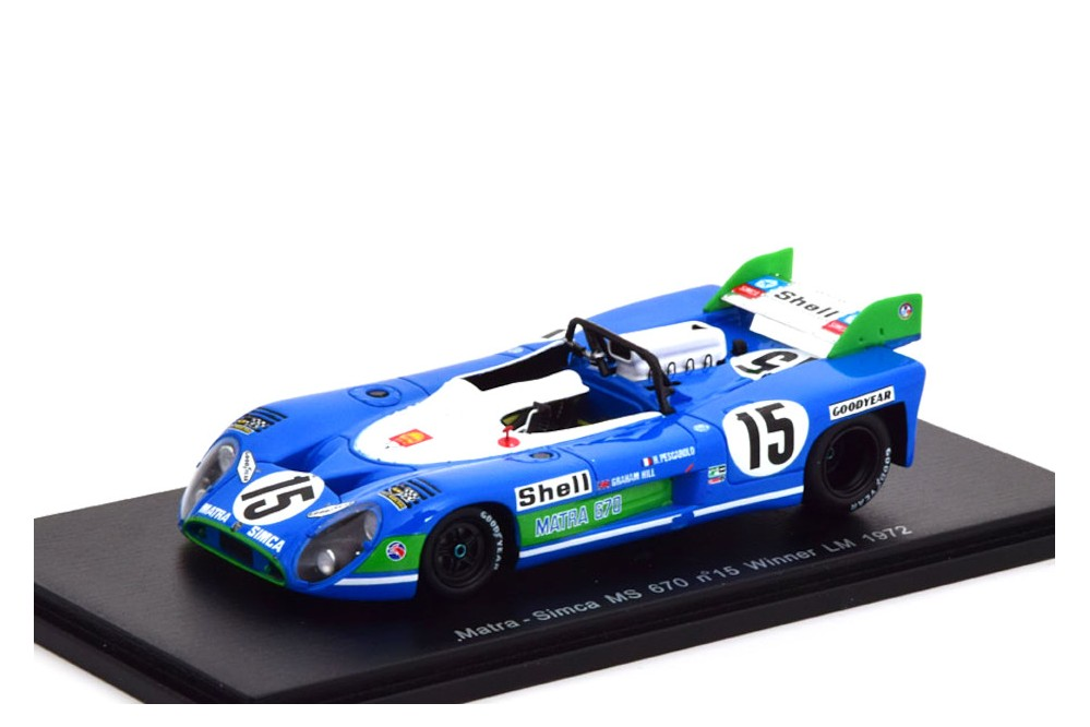 Spark 1:43 Matra-Simca MS670 winner Le Mans 1972 Pescarolo//Hill 43LM72
