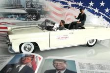 LINCOLN Continental MK III Convertible 1958 J.F. Kennedy - Incluye Figuras - SunStar Escala 1:18 (4707)