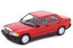 MERCEDES-Benz 190E (W201) 1982 Rojo - Minichamps Escala 1:18 (155037000)