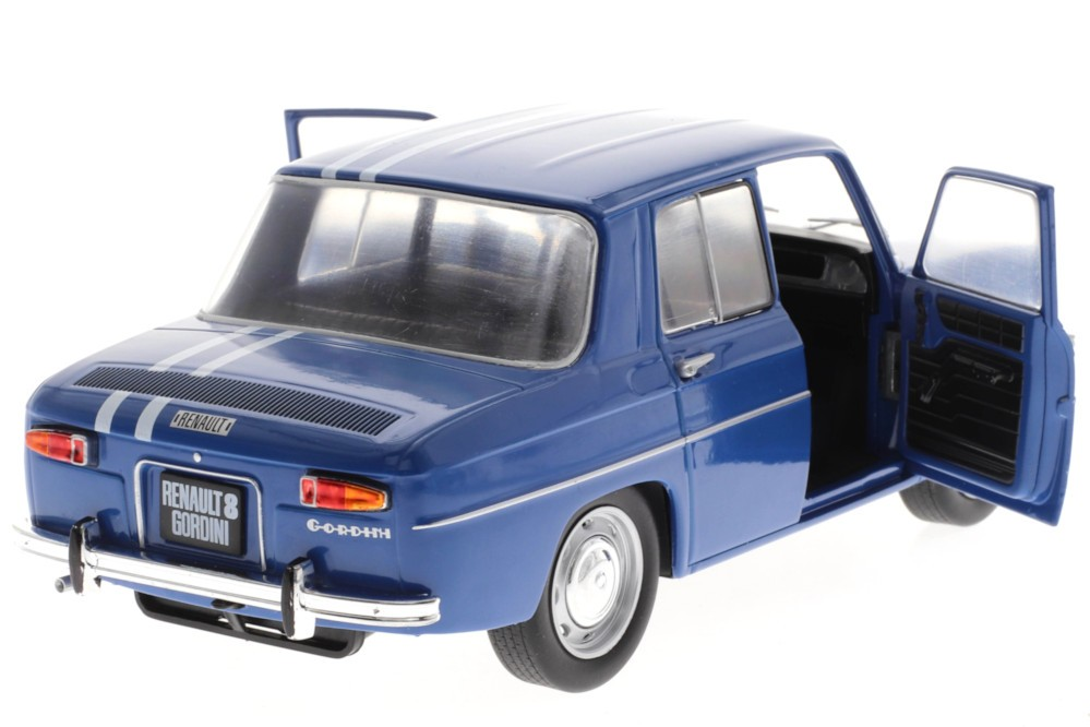 RENAULT 8 Gordini 1100 1967 Azul - Solido Escala 1:18 (S1803602) - Racing  Modelismo