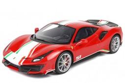 FERRARI 488 Pista Piloti 2018 Rosso Corsa - BBR Models Scale 1:18 (P18160A)
