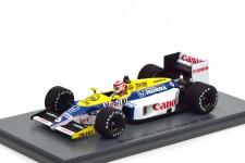 WILLIAMS FW11 Ganador GP F1 Brazil 1986 Nelson Piquet - Spark Escala 1:43 (s7480)