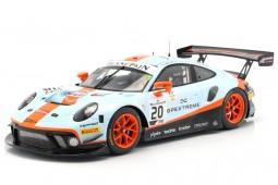 PORSCHE 911 GT3 R Winner 24h Spa 2019 Christiensen / Lietz / Estre - Spark Scale 1:18 (18SB012)