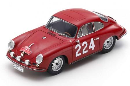 PORSCHE 356B T6 Carrera Rally Monte Carlo 1964 G. Klass / H. Wencher - Spark Scale 1:43 (s6601)