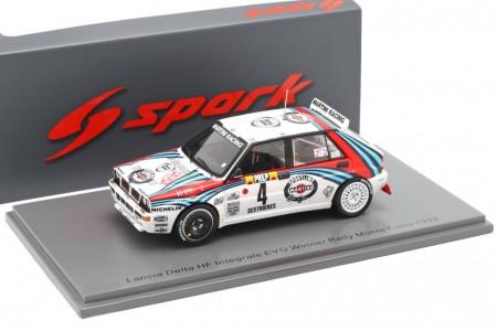 LANCIA Delta HF Integrale Evo Ganador Rally MonteCarlo 1992 Auriol / Occelli - Spark Escala 1:43 (s9015)