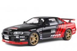 NISSAN Skyline GT-R (R34) Advan Drift 1999 - Solido Scale 1:18 (S1804302)