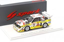 AUDI Quattro S1 Rally Monte Carlo 1986 W. Rohrl / C. Geistdorfer - Spark Scale 1:43 (s5190)
