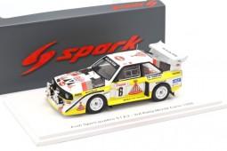 AUDI Quattro Sport S1 E2 3rd Rally Montecarlo H. Mikkola / A. Hertz - Spark Escala 1:43 (s5191)