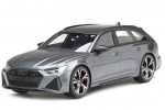 AUDI RS6 Avant (C8) Carbon Black Edition 2020 Daytona Grey - Top Speed Escala 1:18 (TS0316)