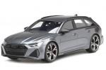 AUDI RS6 Avant (C8) Carbon Black Edition 2020 Daytona Grey - Top Speed Scale 1:18 (TS0316)