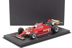 FERRARI 126CK Formula 1 1981 G. Villeneuve - Incluye Vitrina - GP Replicas Escala 1:18 (GP16A)