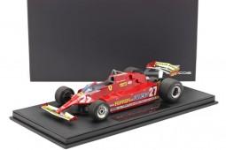 FERRARI 126cx USA West GP F1 1981 J. Villeneuve - Incluye Vitrina - GP Replicas Escala 1:18 (GP76A)