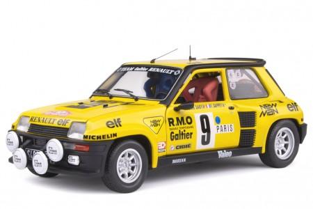 RENAULT 5 Turbo Rally Monte Carlo 1982 B. Saby / F. Sappey - Solido Escala 1:18 (S1801311)
