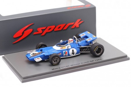 MATRA MS80 Ganador Dutch GP Formula 1 1969 J. Stewart - Spark Escala 1:43 (s7191)