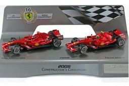 FERRARI F2008 - F1 Constructors Champion 2008 K.Raikkönen / F.Massa - Hot Wheels Escala 1:43 (L8784)