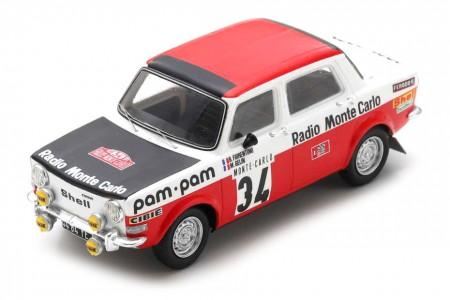 SIMCA 1000 Rallye 2 Monte Carlo 1973 Fiorentino / Gelin - Spark Escala 1:43 (s9457)
