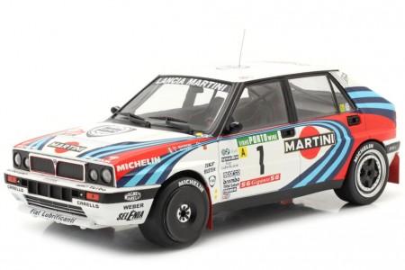 LANCIA Delta Integrale 16V Ganador Rally Portugal 1990 Biaison / Siviero - Ixo Escala 1:18 (18RMC064A)