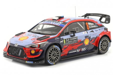 HYUNDAI i20 WRC Rally Monte Carlo 2020 O. Tanak / M. Jarveoja - Ixo Escala 1:18 (18RMC067C)