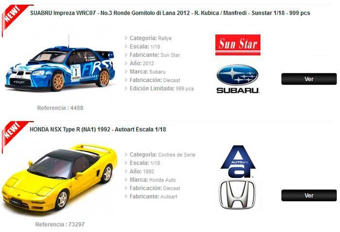 coches de coleccion escala 1 18