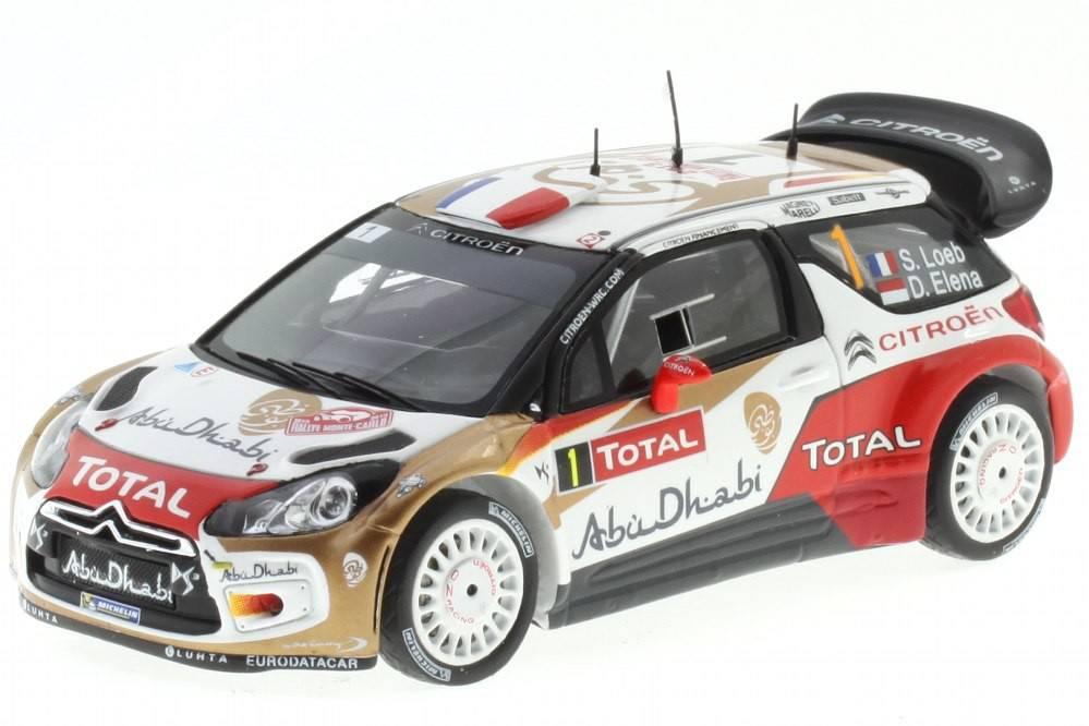 CITROËN DS3 WRC - No.2 Rally Monte Carlo 2013 - S. Loeb / D. Elena - Spark 1/43