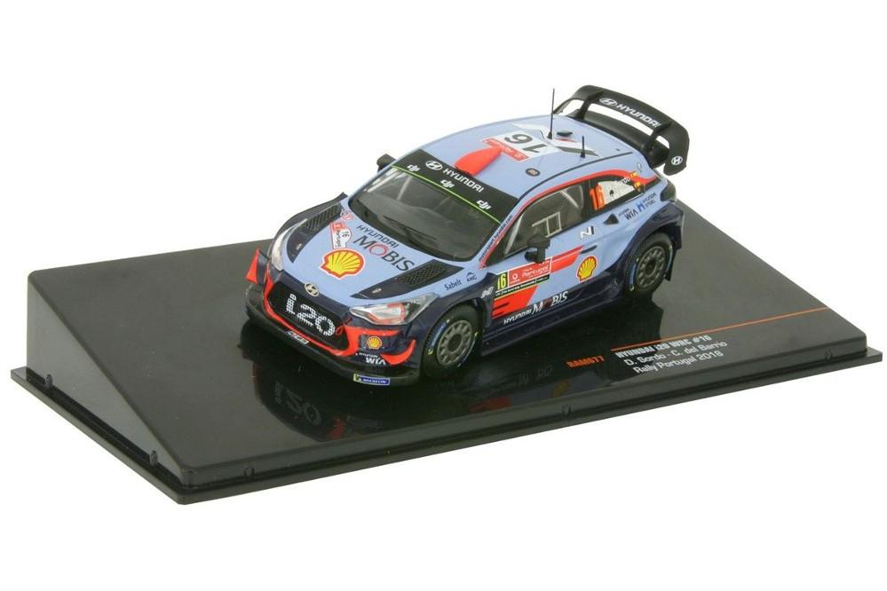 HYUNDAI i20 WRC Rally Portugal 2018 D. Sordo / C. Barrio - Ixo Models Escala 1:43 (RAM677)